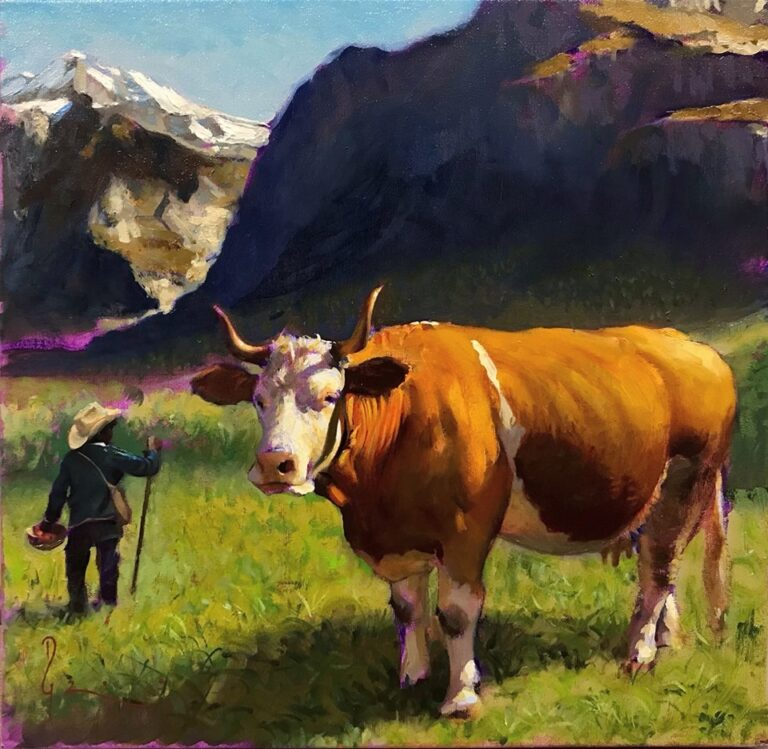 Cow and Sheperd Boy